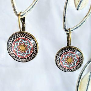 Allergy-Safe Autumn Mandala Earrings